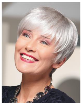 Coupe cheveux blancs femme