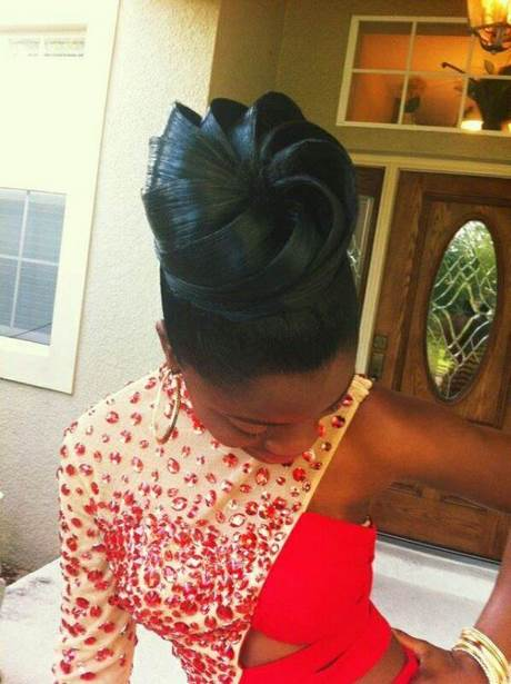 Coiffure Ivoirienne Chignon