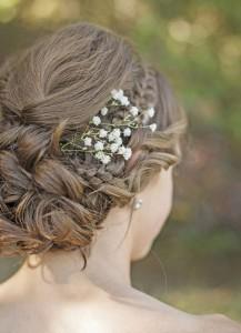 Fleur chignon mariage