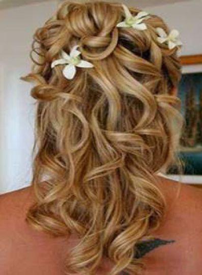 coiffure mariage cheveux lach s boucl s. Black Bedroom Furniture Sets. Home Design Ideas