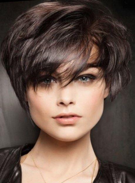 Coupe de cheveux court 2017 visage rond - Modele de coupe courte pour visage rond ...