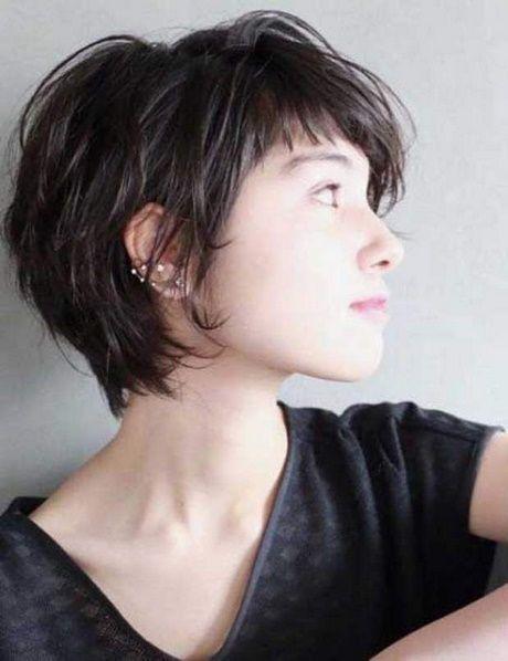 Cheveux court effilé femme