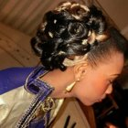 Chignon mariage africain