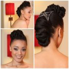 Coiffure mariage afro