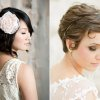 Coiffure mariage cheveux courts 2014
