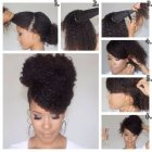 Coiffures cheveux afro