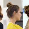 Cheveux mi long chignon