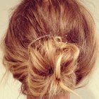 Petit chignon simple