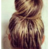 Chignon donut cheveux long