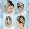 Tresse originale cheveux court