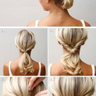 Tuto coiffure cheveux mi long attaché