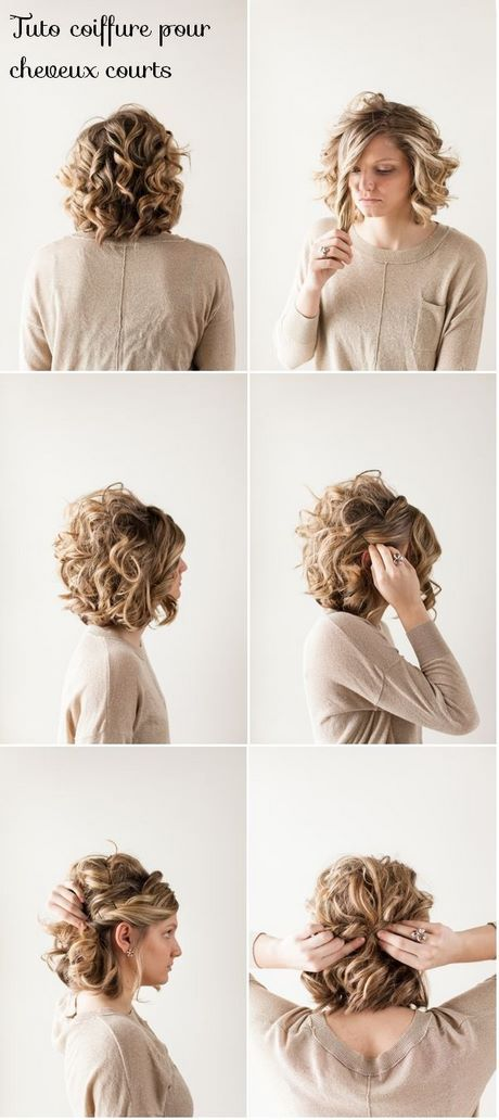 Tuto coiffure mariage cheveux court