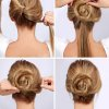 Chignon simple cheveux mi long