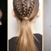 Coiffure couette tresse