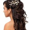 Coiffure mariage cheveux long brun