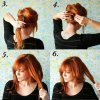 Coiffure pin up cheveux mi long