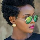 Coupes courtes afro