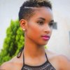 Coiffure afro court femme