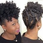 Coiffure cheveux afro femme