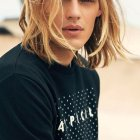 Cheveux long blond homme