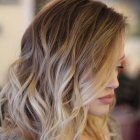 Coupe carré balayage blond
