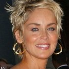 Coupe de cheveux sharon stone