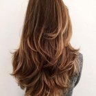Coupe degrade cheveux long femme